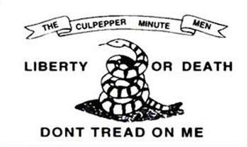 DON'T TREAD ON ME CULPEPPER FLAGGA 150X90CM