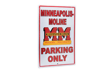 MINNEAPOLIS-MOLINE PARKING ONLY PLÅTSKYLT 46x30cm
