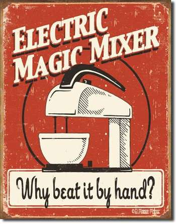 ELECTRIC MAGIC MIXER PLÅTSKYLT 40,5x31,5cm