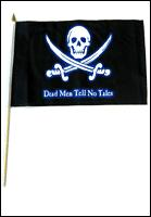DEAD MEN TELL NO TALES HANDFLAGGA 45X30CM