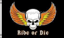 RIDE OR DIE FLAGGA 150X90CM