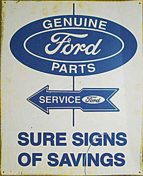 FORD PARTS AND SERVICE PLÅTSKYLT 41x30cm