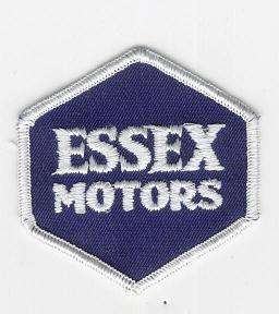ESSEX MOTORS TYGMÄRKE 74x67mm