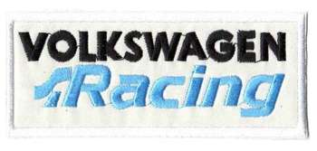 VOLKSWAGEN RACING TYGMÄRKE 115X48mm