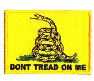 DONT TREAD ON ME TYGMÄRKE 75x55mm