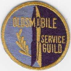 OLDSMOBILE SERVICE GUILD TYGMÄRKE 78mm