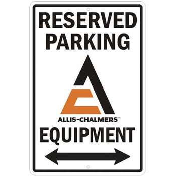 ALLIS-CHALMERS RESERVED PARKING PLÅTSKYLT 46x30cm