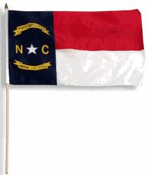 NORTH CAROLINA HANDFLAGGA 45X30CM