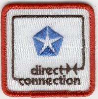 DIRECT CONNECTION TYGMÄRKE 65x65mm