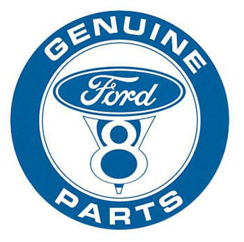 FORD GENUINE V8 PARTS PLÅTSKYLT 30cm