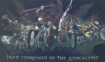 IRON HORSEMEN OF THE APOCALYPSE FLAGGA 150X90CM