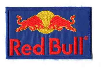 RED BULL TYGMÄRKE 102x62mm