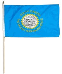 SOUTH DAKOTA HANDFLAGGA 45X30CM