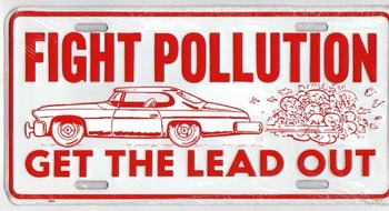 FIGHT POLLUTION PLÅTSKYLT 30x15cm