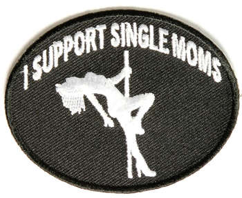 I SUPPORT SINGLE MOMS TYGMÄRKE 77x58mm