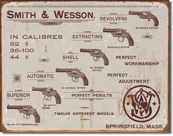 SMITH & WESSON PLÅTSKYLT 40,5x31,5cm