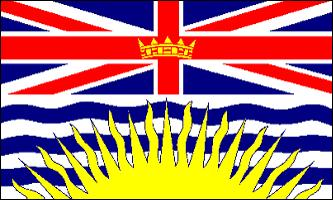 BRITISH COLUMBIA FLAGGA 150X90CM