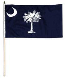 SOUTH CAROLINA HANDFLAGGA 45X30CM