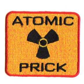 ATOMIC PRICK TYGMÄRKE 67x60mm