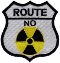 ROUTE NO RADIATION TYGMÄRKE 77x73mm
