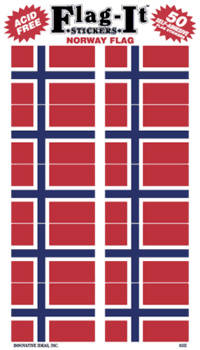 NORGE STICKERS I PAPPER 50ST 38X25MM