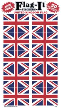STORBRITANNIEN STICKERS I PAPPER 50ST 38X25MM