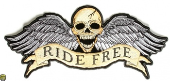 RIDE FREE RYGGMÄRKE 260x115mm