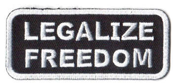 Legalize Freedom Tygmärke 76x33mm
