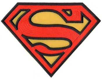 SUPERMAN RYGGMÄRKE 200X150mm