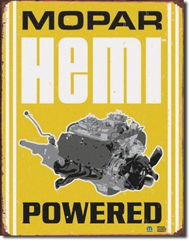 MOPAR HEMI POWERED PLÅTSKYLT 40,5x31,5cm