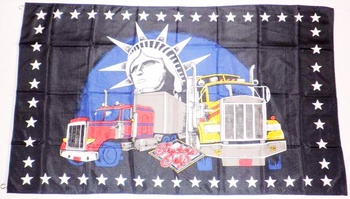 TRUCKERS ONLY FLAGGA 150X90CM