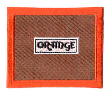 Orange tygmärke - patch 90x76mm