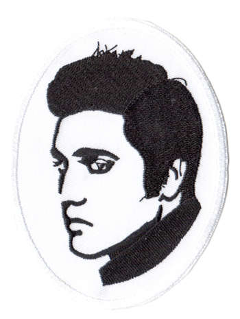 Elvis Presley tygmärke - patch 101x78mm