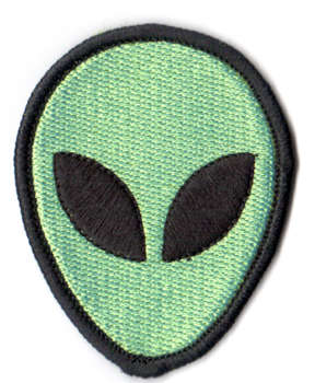 Alien tygmärke - patch 66x51mm
