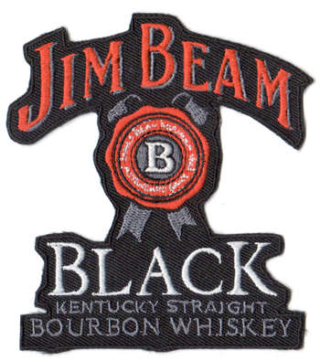 Jim Beam tygmärke - patch 100x90mm