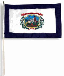 WEST VIRGINIA HANDFLAGGA 45X30CM