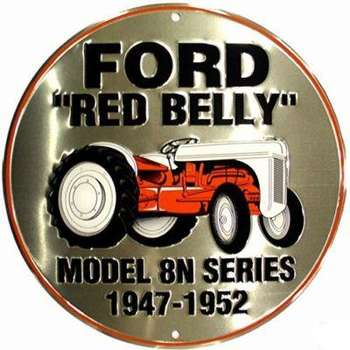 FORD RED BELLY PLÅTSKYLT 30cm