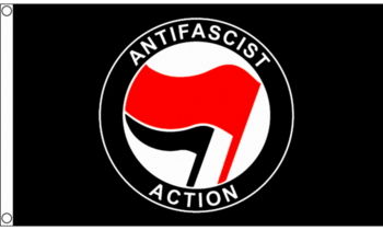ANTIFASCIST FLAGGA 150X90CM