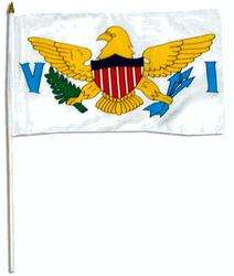 VIRGIN ISLANDS HANDFLAGGA 45X30CM