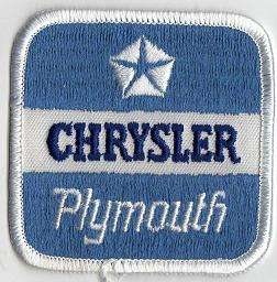 CHRYSLER/PLYMOUTH TYGMÄRKE 68x68mm